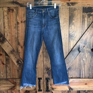 MOTHER Jeans - Mother high rise insider crop step fray jeans!